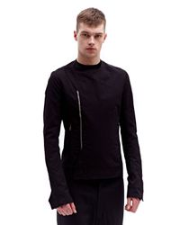 Rick Owens - Black Mens Textile Jacket for Men - Lyst