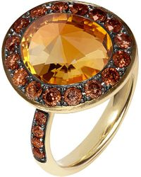 Annoushka | Red Dusty Diamonds 18ct Yellow-gold, Diamond And Citrine Ring | Lyst