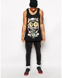 ASOS - Black Longline Vest With Purity Ring Print And Skater Fit for Men - Lyst