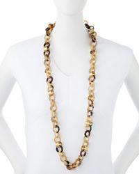 Ashley Pittman   Metallic Jinsi Light Horn Long Necklace   Lyst