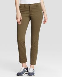 Weekend by Maxmara - Green Pants - Audrey Stretch Slim Fit Chino - Lyst