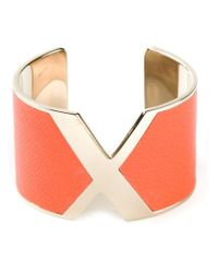 Valextra | Orange 'x' Cuff | Lyst