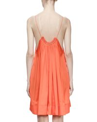 Stella McCartney - Orange Gathered Scoop-neck Trapeze Dress - Lyst
