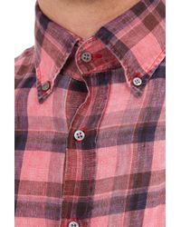 Michael Bastian - Red Check Shirt for Men - Lyst