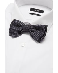 BOSS - Gray 'bow Tie Fashion'   Silk Patterned Bow Tie for Men - Lyst