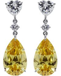 Carat* | Canary Yellow Pear Drop Earrings | Lyst
