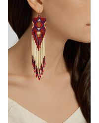 Jacquie Aiche | Red Bead And Porcupine Earrings | Lyst