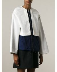 See By Chloé | Blue Front Zip Jacket | Lyst