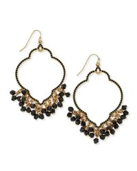 Adrienne Vittadini - Metallic Chandelier Hoop Earrings - Lyst
