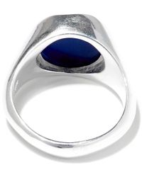 George Frost - Metallic Silver-plated Poison Inner Peace Ring - Lyst