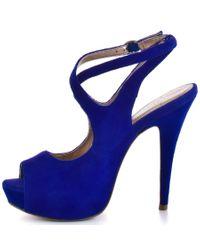BCBGMAXAZRIA   Blue Ebonee - Cobalt Suede   Lyst