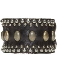 DSquared² | Black Studded Leather Bracelet for Men | Lyst