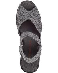 Bernie Mev - Gray Fame Wedge Sandal Pewter Fabric - Lyst