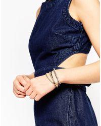 ALDO | Metallic Argella Gold Bar Multipack Bracelets | Lyst