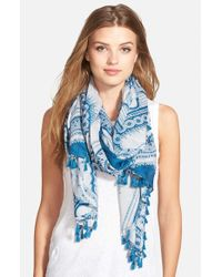 Halogen | Blue 'Spice World' Scarf | Lyst