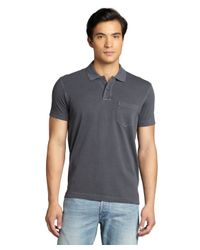 Ermenegildo Zegna | Gray Charcoal Cotton Pique Pocketed Polo Shirt for Men | Lyst