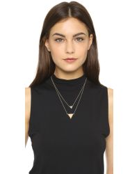 House of Harlow 1960 - Metallic Temple Pave Necklace - Lyst