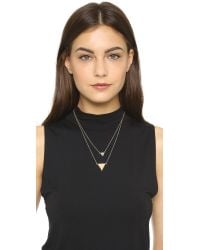 House of Harlow 1960 | Metallic Temple Pave Necklace | Lyst