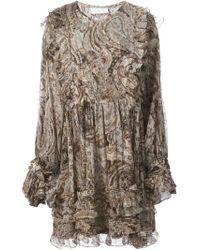 Faith Connexion | Brown Short Dress | Lyst