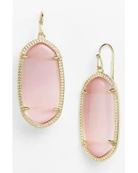 Kendra Scott | Pink 'elle' Drop Earrings - Blush | Lyst
