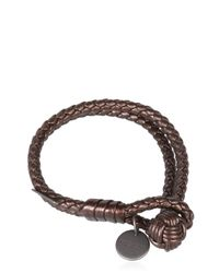 Bottega Veneta | Brown Double Intreccio Metallic Deer Bracelet | Lyst
