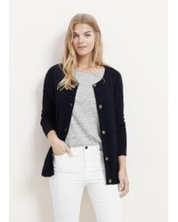 Violeta by Mango | Blue Cable-knit Cotton Cardigan | Lyst