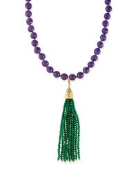 Rosantica - Purple Himalaya Two-tone Agate Tassel Necklace - Lyst