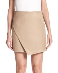 Carven | Natural Faux Wrap Skirt | Lyst
