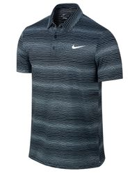 Nike | Black Sphere Court Dri-fit Striped Tennis Polo for Men | Lyst