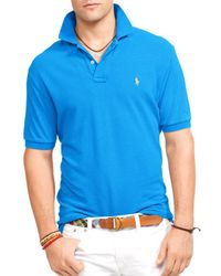 Ralph Lauren - Blue Polo Classic Mesh Polo Shirt - Regular Fit for Men - Lyst