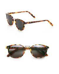 Cutler & Gross - Brown 50mm Round Sunglasses - Lyst