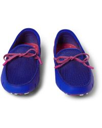 Swims | Blue Rubber and Mesh Boat Shoes for Men | Lyst