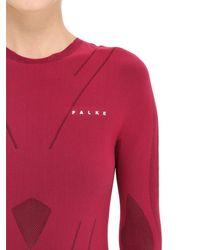 Falke - Purple Performance Skier Long Sleeve T-shirt - Lyst