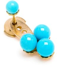 Yvonne Léon - Metallic 18Kt Gold And Turquoise Trilogy Earring - Lyst