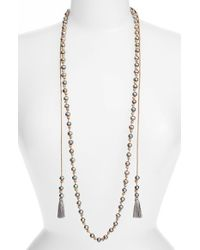 Chan Luu - Natural Double Tassel Potato Pearl Necklace - Lyst