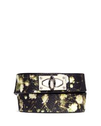 Givenchy | Multicolor Baby'S Breath Floral Print Double Wrap Bracelet | Lyst