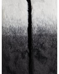 Vince Camuto | White Ombre Faux Fur Gilet | Lyst