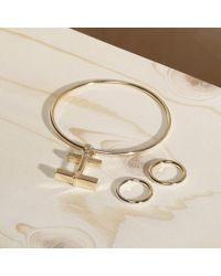 Paul Smith - Metallic Women's Gold Cufflink Pendant Bracelet - Lyst