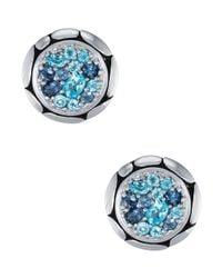 John Hardy - Blue Kali Pure Lavafire Sea Colorway Earrings - Lyst