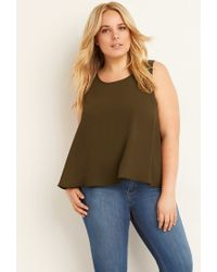 Forever 21 | Green Plus Size Classic Chiffon Top | Lyst