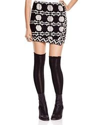 Free People | Black Wrapped In Your Blanket Skirt | Lyst