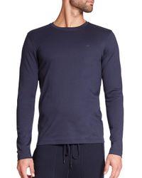 Michael Kors | Blue Long-sleeved Tee for Men | Lyst