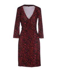 Diane von Furstenberg - Red Short Dress - Lyst