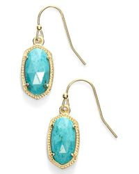 Kendra Scott - Metallic 'lee' Small Drop Earrings - Lyst
