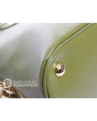 Prada - Preowned Green Saffiano Lux Small Promenade Bag - Lyst