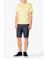 Forever 21 | Yellow Short Sleeve Military Shirt for Men | Lyst