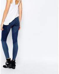Pepe Jeans | Blue Cutie Delux Printed Patch Skinny Jeggings | Lyst