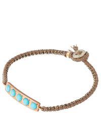 Brooke Gregson | Blue Gold Turquoise Bar Bracelet | Lyst
