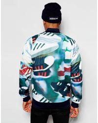 Adidas Originals | Green Track Jacket In Chaos Print for Men | Lyst
