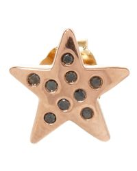 Andrea Fohrman | Metallic Gold Black Diamond Star Stud Earring | Lyst